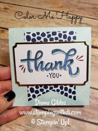 Color Me Happy Diana Gibbs Stampin' Blends Stampin' Up!