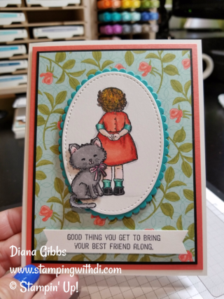 Birthday Delivery girl Diana Gibbs Stampin' Up!