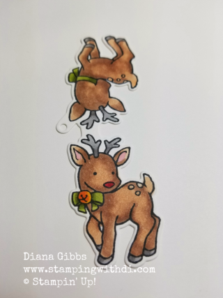 Seasonal Chums Deer tag Diana Gibbs