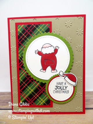 Santa's Suit Diana Gibbs Stampin' Up!