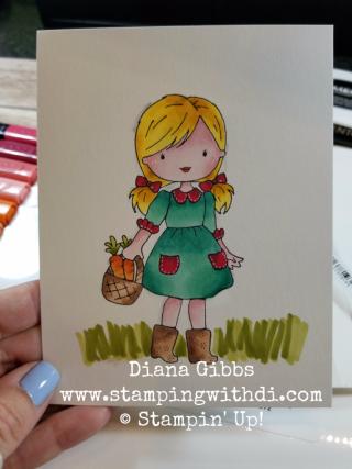 Garden Girl Diana Gibbs Stampin' Blends
