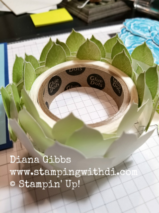 Leaves on glue dots www.stampingwithdi.com