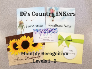 Di's Country INKers Recognition Cards www.stampingwithdi.com Diana Gibbs