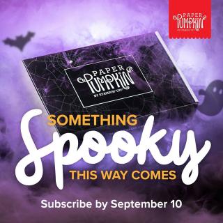 Paper pumpkin spooky subscribe Diana Gibbs