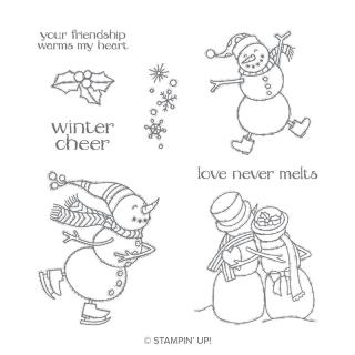 Spirited snowman stamp set