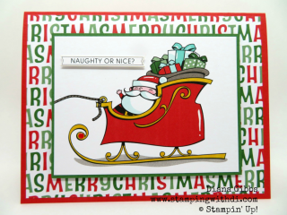 Fall Social Here Comes Santa Claus www.stampingwithdi.com