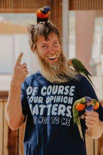 Eric at Ostrich Farm
