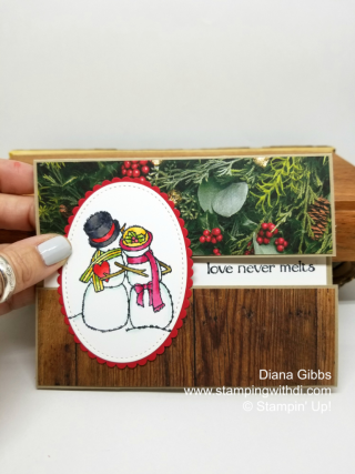 Spirited snowman Diana Gibbs www.stampingwithdi.com