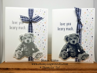 Baby Bear 3 step Diana Gibbs www.stampingwithdi.com stamparatus