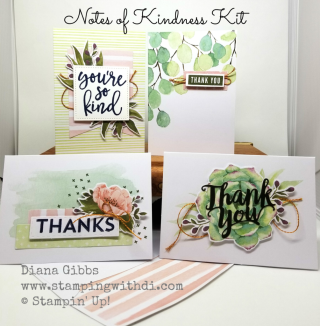 Notes of Kindness Kit www.stampingwithdi.com