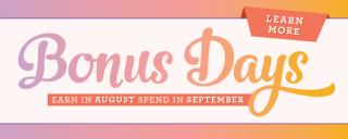 Bonus days www.stampingwithdi.com