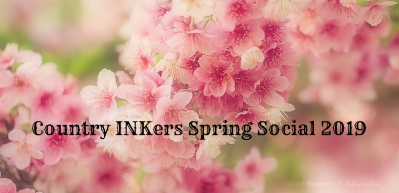 Country INKers Spring Social Flower Banner