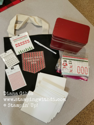 Country INKers Fall Social Swag bag ingredients www.stampingwithdi.com