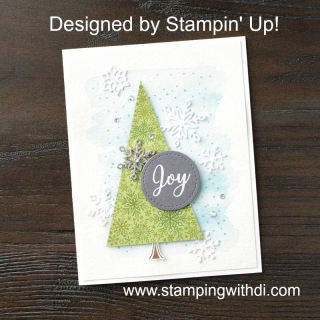 Snowflake Showcase card 1 - by Stampin' Up!