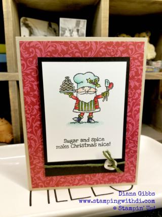 So Santa BINGO make n take www.stampingwithdi.com Diana Gibbs