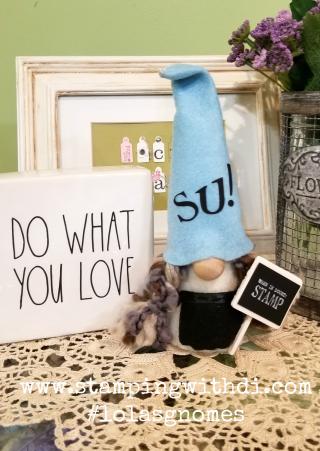 Gnome SU! www.stampingwithdi.com #lolasgnomes