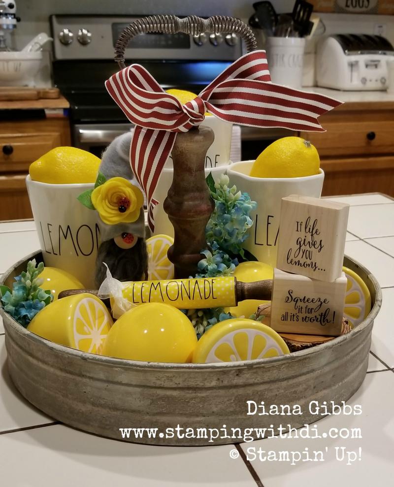 Tier tray lemon