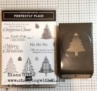 Perfectly plaid stamp set Christmas card of the Month www.stampingwithdi.com