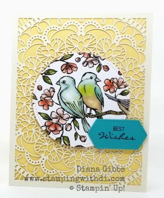 Bird Ballad Laser Cut card www.stampingwithdi.com