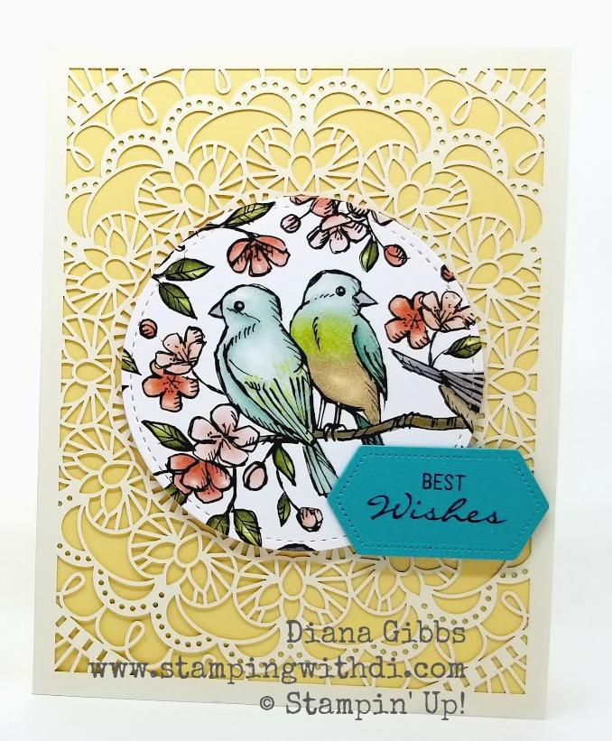 Bird Ballad Laser Cut card