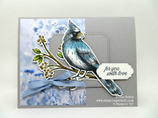 Fall Social 2019 Toile Christmas Blue Jay www.stampingwithdi.com Diana Gibbs Stampin' Blends