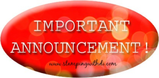 Important announcement www.stampingwithdi.com