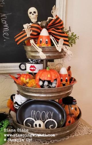 Tier tray halloween Diana Gibbs www.stampingwithdi.com