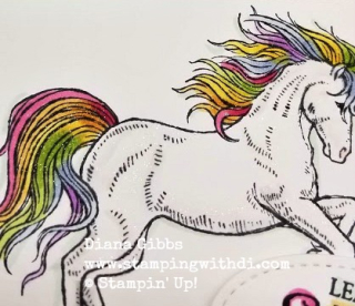 Unicorn Wink a Stella Leave a Little Sparkle www.stampingwithdi.com