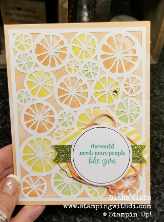Incredible like you card like oranges www.stampingwithdi.com