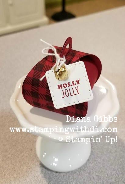 Buffalo Check Mini Curvy Keepsakes Box www.stampingwithdi