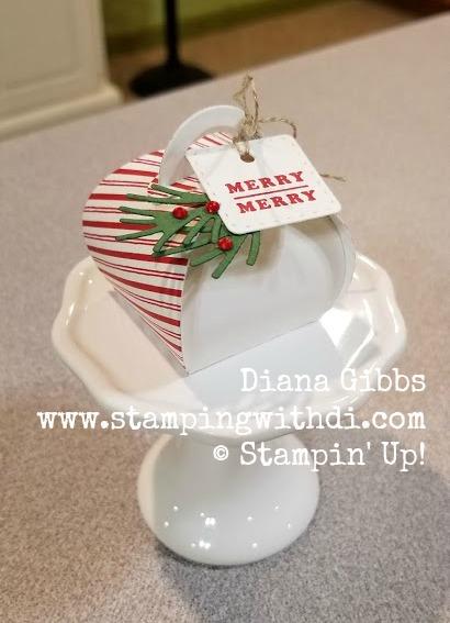 Candy Cane Mini Curvy Keepsakes Box www.stampingwithdi