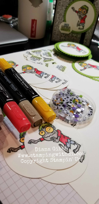 Boo to You www.stampingwithdi.com coloring with the stampin' blends makes this set cute and simple