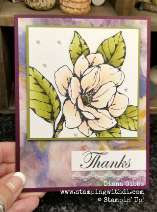 Good Morning Magnolia Stampin' Up! www.stampingwithdi Diana Gibbs