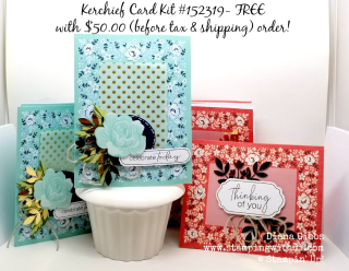 Kerchief card kit group www.stampingwithdi.com