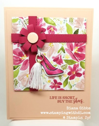 Dressed to Impress Present card www.stampingwithdi.com