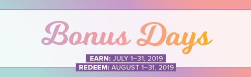 Bonus days 2019 www.stampingwithdi.com