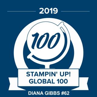 Top 100 badge 2019 Diana Gibbs www.stampingwithdi.com