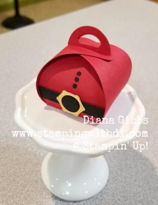 Santa Claus Mini Curvy Keepsakes Box www.stampingwithdi.com