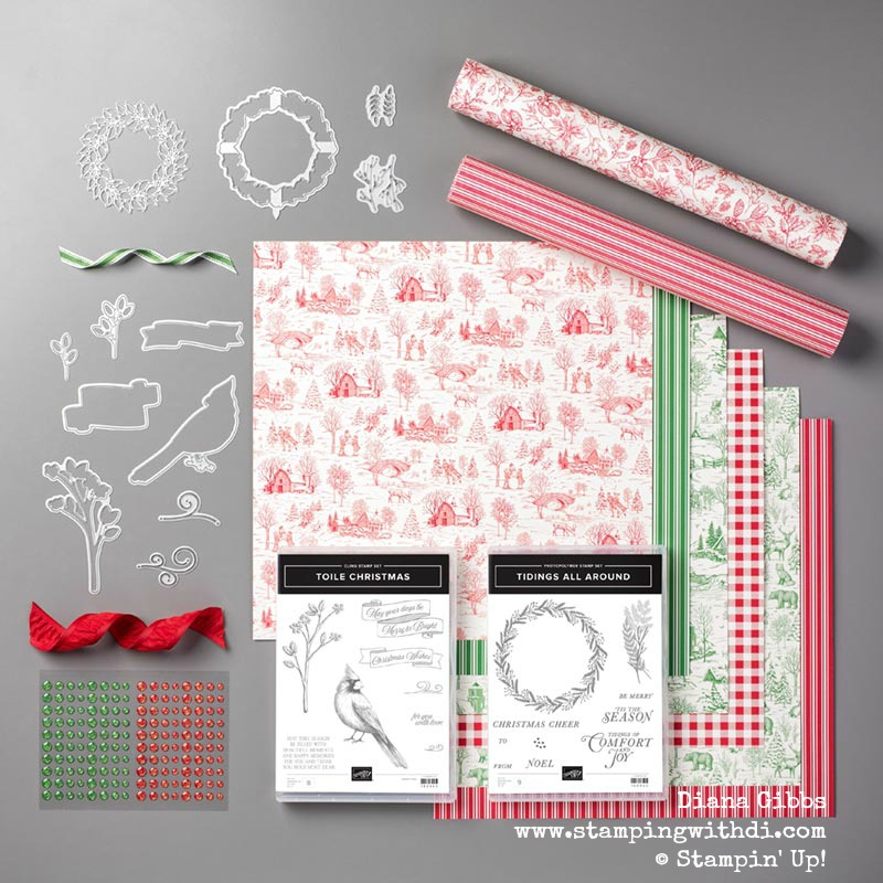 Toile Tidings Suite www.stampingwithdi.com