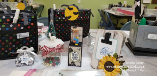 Country INKers Fall social 2019 table goodies www.stampingwithdi.com