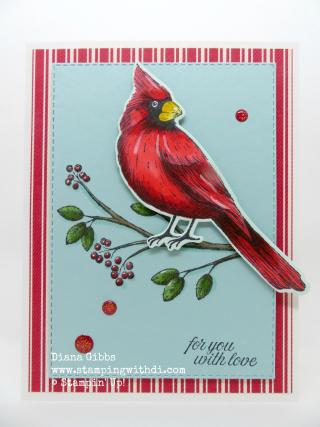Toile Tidings Cardinal www.stampingwithdi