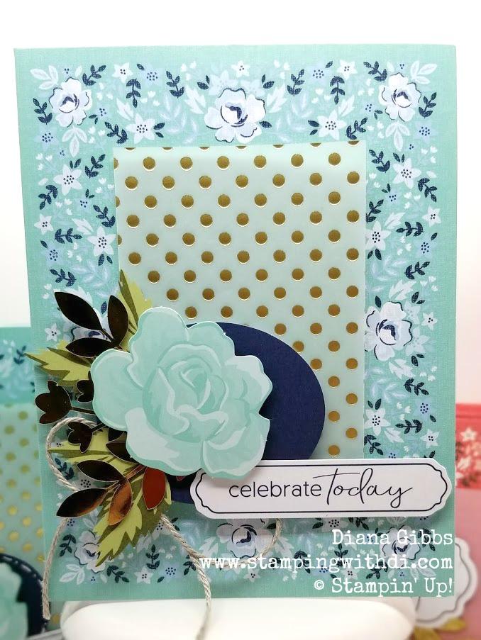 Kerchief card blue