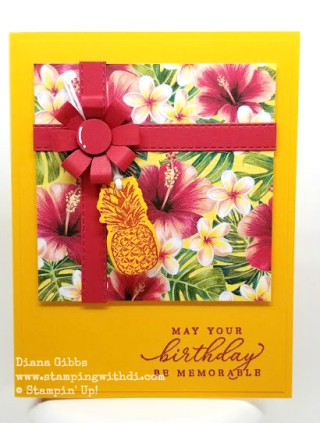 Tropical Oasis Present Card www.stampingwithdi.com