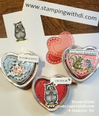 Teach Me Tuesdays Episode 16 Heart Foil Tins www.stampingwithdi.com
