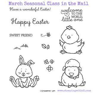 March 2020 Seasonal Class in the Mail www.stampingwithdi.com