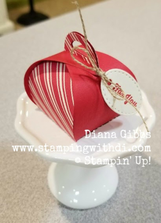Toile Tidings DSP Red Mini Curvy Keepsakes Box www.stampingwithdi.com