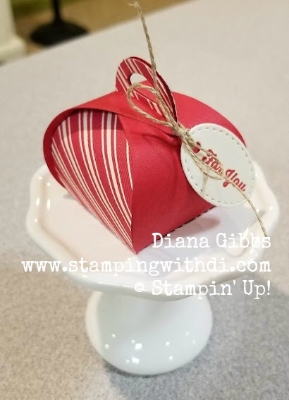 Toile Tidings DSP Red Mini Curvy Keepsakes Box www.stampingwithdi