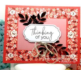 Kerchief Card Kit Poppy Parade www.stampingwithdi.com