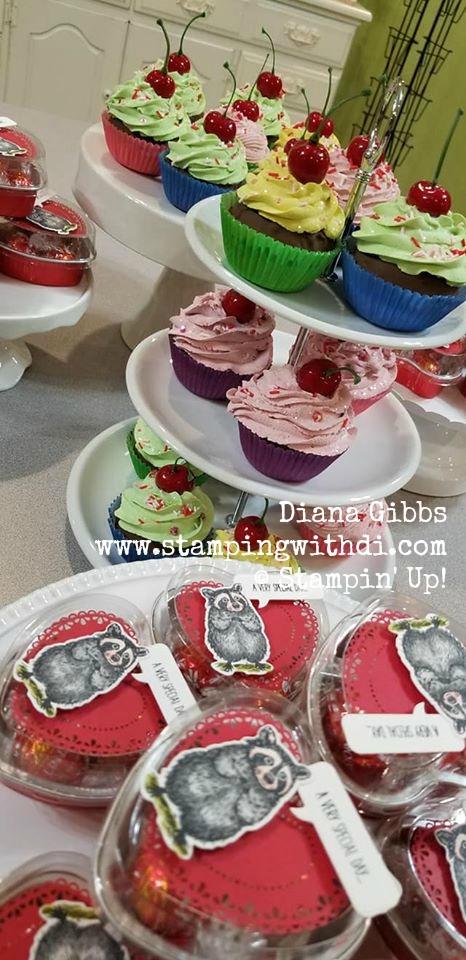 Spring Social cupcakes