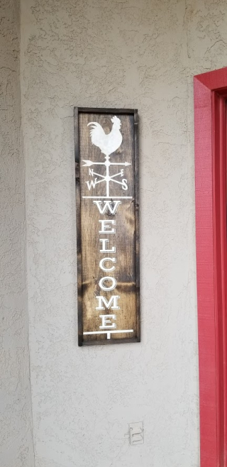 Welcome board and brush sign www.stampingwithdi.com